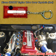 SR20DET Engine Valve Cover Style Keychain (Red) Fits Nissan