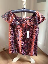 Womens Summer animal print Blouse Top Size 18