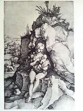 Durer 4.5x7 engraving 1497 b 363 original signed The Penance  St John Chrysostom