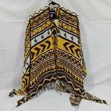 Zoozatz Wyoming Cowboys Acrylic One Size Poncho Shawl Wrap - NWT