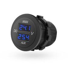 Mictuning 10-60V Car LED Panel Digital Display Double VoltMeters Voltage Monitor