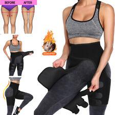 3 in 1 Womens Workout Body Shaper Waist Trainer Thigh Trimmer Butt Lifter Sauna