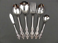 6 Pcs Oneida Brahms Stainless Serving Pieces Meat Fork Serving Spoon