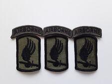 Vietnam USGI SURPLUS patches 173d airborne brigade blk on  olive drab lot of3ea