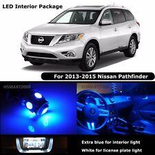 12PCS Blue Interior LED Bulbs 2013-2015 Nissan Pathfinder White for License