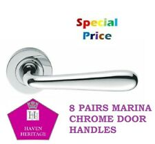 POLISHED CHROME MODERN LATCH INTERIOR DOOR HANDLE ARCHED HANDLES 1-15 PAIRS D7
