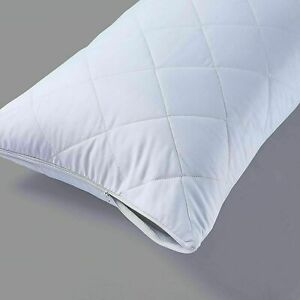 Good Quality QUILTED PACK OF 4 PILLOW PROTECTORS ZIPPED ENCLOSURE COVERS