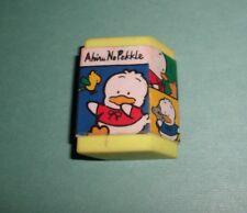 Sanrio Ahiro No Pekkle 90's Eraser in Case Vintage 1994 On The Road DUCK