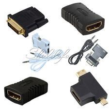HDMI Female to Female/24+1Pin DVI Male/HDMI Male/VGA Male Adapter Connector HDTV