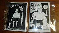 LITTLE LOW LIFE IN DEPRESSIONLAND & FAT SLOB comic, small press, NEARMINT!! nm