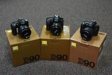 Nikon D90 12.3MP Digital SLR - Black (Kit w/ AF-S DX 18-55mm Lens)***Lot of 3***