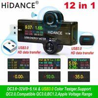 USB 3.0 TFT 13 in1 USB Tester APP DC Digital Voltmeter Voltage Detector Doctor