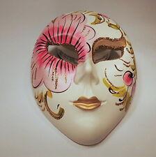 Venezianische Maske  handgemalt mit Aufhängung Keramik Venedig Venice Mask