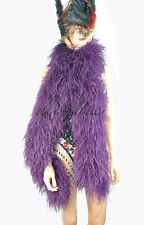 Dark purple 20 ply lightweight Luxury fluffy Ostrich Feather Boa Costume