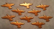 """Copper Enameling Blank Stamp 1-1/4"""" Seagull Stamped copper Unused Lot of 10"""