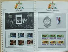 2 Grenada stamp pages with 13 bend and peel stamps stuck in Silver wedding anniv