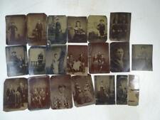 Antique 1800s TinType Photograph Collection Set Women Men Children x19 Vintage