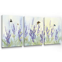 Lavender Canvas Wall Art Butterfly Picture for Living Room Bedroom Decor 12x16x3