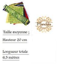 Drapeaux à Prières - Rlx de 25 Dpx DE 20x26 cm- Lg 6,50 m (Tibet Prayer Flayer)