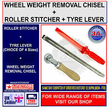 Patch Roller Stitcher, Wheel Weight Removal Tool & 300mm Tyre Changer Lever