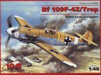 ICM 48105 German fighter Messerschmitt Bf-109 F4Z 1/48 plastic model kit 188 mm