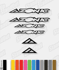 Azonic Logo Decals MTB MX Pack  - Custom Colours + Matte + Fluorescent