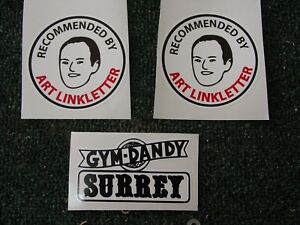 GYM DANDY SURREY REPLACEMENT DECALS SET ART LINKLETTER
