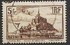 Mt St Michel 1929 5F oblit légère
