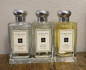 Jo Malone White Jasmine & Mint/Vintage Gardenia/Amber & Lavender  Cologne 2ml