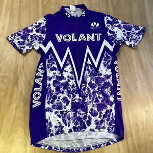 Voler Size Medium Cycling Jersey / Volant / Purple And White 3/4 Zip