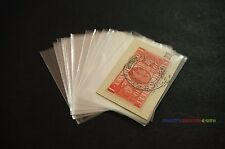 100pcs Philately Stamp Sleeves Protective Transparent OPP Pocket 55mm x 40mm