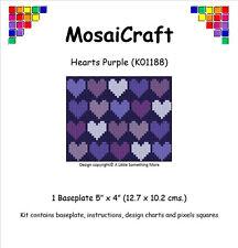 MosaiCraft Pixel Craft Mosaic Art Kit 'Hearts Purple' Valentine Pixelhobby