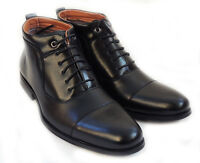"""NEW  """"FERRO ALDO"""" MENS ANKLE BOOTS LEATHER LINED LACE UP DRESSY SHOES / Black"""