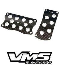 VMS RACING BLACK CARBON FIBER PEDAL PAD COVER KIT AUTO TRANSMISSION AT 2PC #3