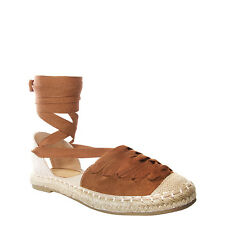 Womens Ladies Espadrilles Lace Up Shoes Open Back Shoes Size