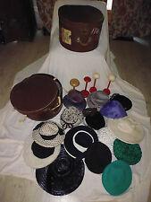 lot 2 ancien boite valise chapeau + 16 chapeau ancien + 4 porte support chapeau