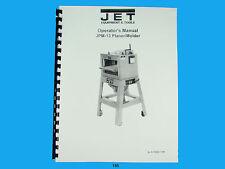 Jet   JPM-13 Wood Planer / Molder Owners  Manual *185