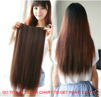 Remy 100% Human Hair Extensions Full Head One Piece Clip In Hair pieces so thick