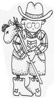 Unmounted Rubber Stamps Set, Cute Cowboy & Cowgirl Set, Western Stamps, Cowboys