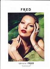 KATE MOSS FRED Publicité de Magazine ( page de mag)Magazine advertisement.
