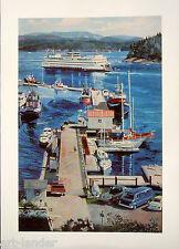 8 Friday Harbor San Juan Island Ferry Blank Note Cards Marshall Johnson no env.