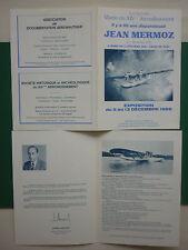 PLAQUETTE EXPOSITION JEAN MERMOZ PARIS 1986 HYDRAVION LATECOERE 300 CROIX DU SUD