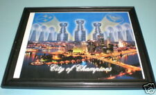 PENGUINS & STEELERS CITY OF CHAMPS FRAMED COLOR PRINT