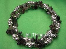 SMOKEY QUARTZ Gemstone Crystal Bangle Wrap Bracelet Jewellery for Luck & Focus