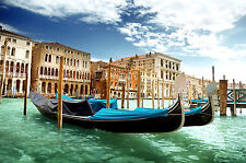 Venice Italy Home Decor Canvas Print A4 Size (210 x 297mm)