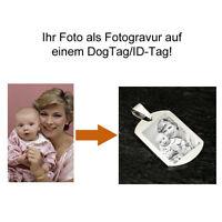 ID Tag Dogtag Edelstahl Fotogravur vom eigenen Foto als Geschenkidee mit Gravur
