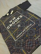 CROOKS AND CASTLES NORDIC T SHIRT IN NAVY SZ L !!! NEW !!!