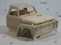 Ford F 850 1:25 scale resin truck cab kit