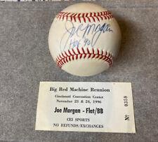 Joe Morgan Autographed Baseball HOF Cincinnati Reds