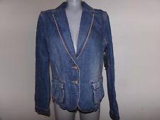 MADISON STUDIO Women's Size 12 Long Sleeve Jean Blazer Jacket Unique NWT $59.99
